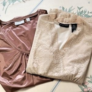 NY&Co Lace and Copper Shirt Bundle
